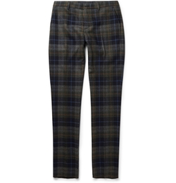 Etro - Slim-Fit Checked Wool-Blend Trousers