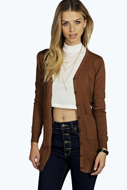 Boohoo - Sarah Fine Knit ButtonTthrough Cardigan