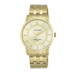 Armitron - Gold-Tone Stainless Steel Link Watch