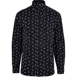 River Island - Spindle Print Long Sleeve Shirt