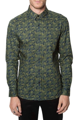 7 Diamonds - Digi Camo Print Woven Shirt