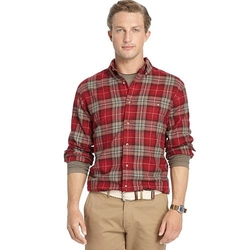 Arrow Saranac  - Plaid Flannel Button-Down Shirt