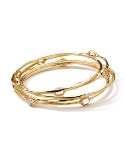 Ippolita   - 18-Karat Gold Clear Quartz Bangles