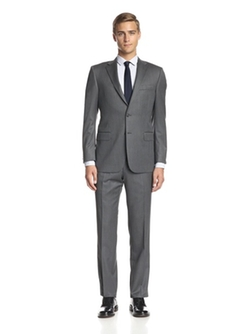 Hickey Freeman  - Sharkskin Notch Lapel Suit