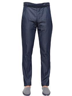 Maison Martin Margiela  - Side Wings Cotton Chambray Trousers