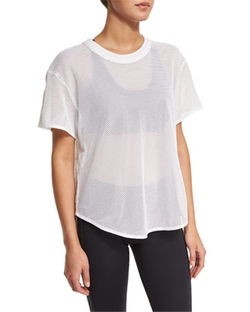 Adidas by Stella McCartney - Short-Sleeve Mesh Athletic Tee