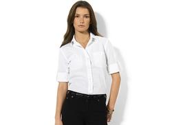Lauren Jeans Co.  - Roll-Tab-Sleeve Shirt