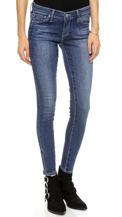 AG Adriano Goldschmied  - Zip Up Legging Ankle Skinny Denim Pants