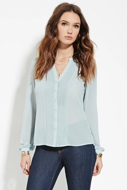 Forever21 - Pintucked Chiffon Blouse