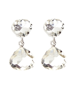 Kenneth Jay Lane - Crystal Pear Drop Earrings