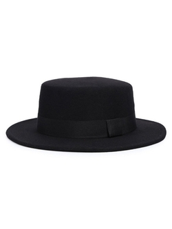Choies - Bow Tie Pork Pie Hat
