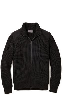 Vince  - Melton Zip Front Sweater