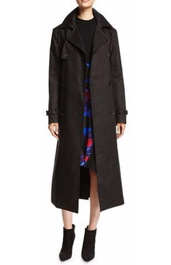 DKNY - Belted Double-Breasted Cotton Trenchcoat