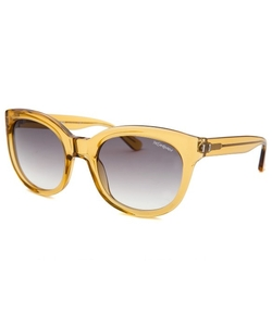 Yves Saint Laurent - Round Gold-Tone Translucent Sunglasses
