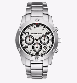 Michael Kors - Caine Silver-Tone Watch