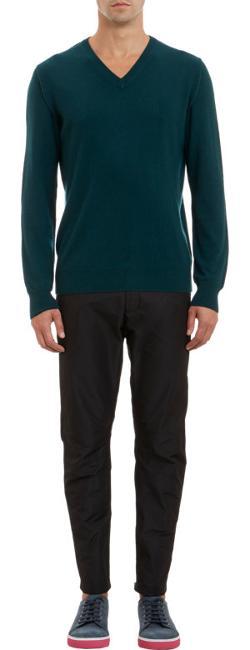 Lanvin - Cashmere V-Neck Pullover Sweater