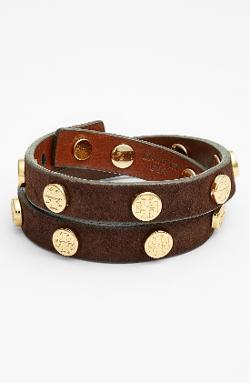 Tory Burch  - Logo Leather Wrap Bracelet