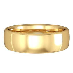 Jewelco London - Court-Shaped Band Wedding Ring