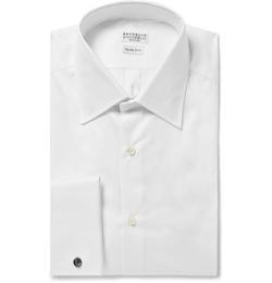 Brunello Cucinelli - White Cotton Shirt