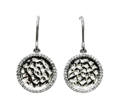Owc Jewelry - Sterling Silver Hammered Disc Earrings