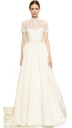 Marchesa - Lace Bodice Ball Gown