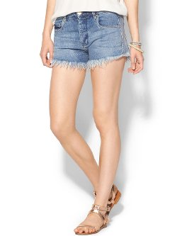 Piper Lime - Blank Denim High Waisted Shorts