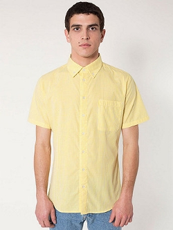 American Apparel - Gingham Button-Down Shirt