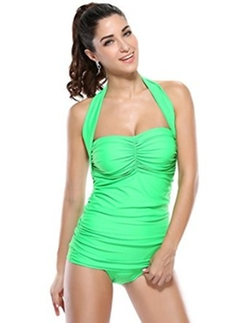 Kathlena - One Piece Pin Up Monokinis Swimsuit