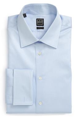 Ike Behar - Regular Fit Solid French Cuff Dress Shirt
