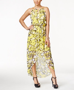 Thalia Sodi - Printed High-Low Maxi Dress