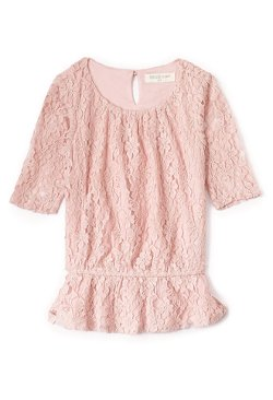 Forever21 - Lace Doll Peplum Top