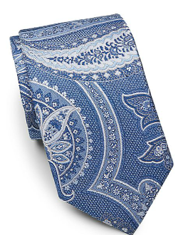 Saks Fifth Avenue Black - Paisley Silk-Blend Tie