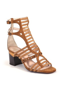 Lanvin  - Strappy Studded Suede Sandals