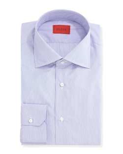 Isaia   - Micro-Stripe Solid Dress Shirt