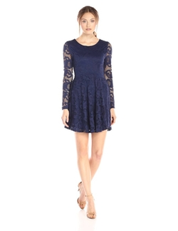 Everly - Lace Fit & Flare Dress