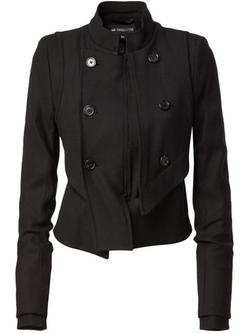 Ann Demeulemeester - Asymmetric Military-Style Jacket
