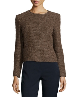 Escada  - Tweed Jacket with Round Neckline