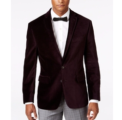 Ryan Seacrest Distinction - Slim-Fit Purple Velvet Jacket