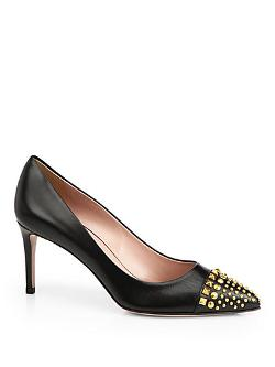 Gucci - Coline Studded Leather Pumps