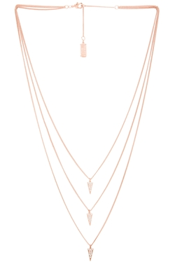 Melanie Auld - Triple Pave Triangle Necklace