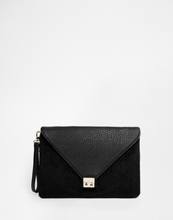 Pieces -  Faux Pony Envelope Clutch