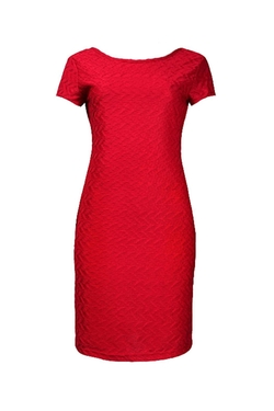 Sharagano - Textured Jersey Dress