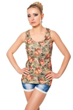 Td-G  - Floral Allover Design Tank Top