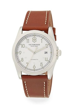 Victorinox Swiss Army  - Stainless Steel Leather Strap Watch