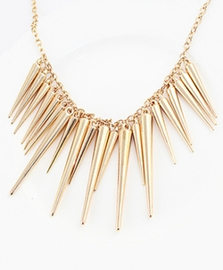 Romwe - Exaggerate Spike Necklace