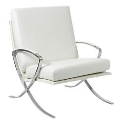 Euro Style  - Pietro Leather Club Chair White