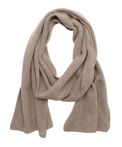 Harrison  - Nile Brown Cashmere Knit Scarf