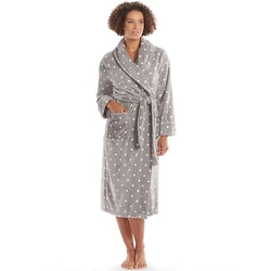Sonoma Life - Printed Long Plush Shawl Robe