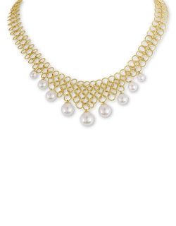 Majorica - Freshwater Pearl And Bib Necklace