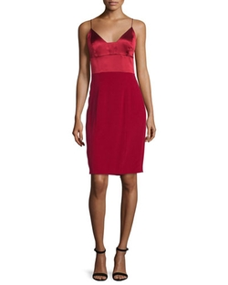 Narciso Rodriguez - Spaghetti-Strap Silk Cocktail Dress